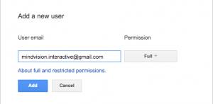add a new user google search console