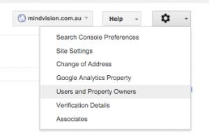 google search console admin