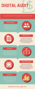 Infographic about how important a digital audit is