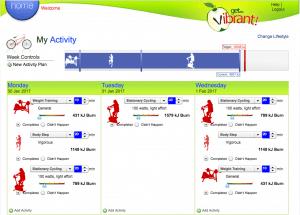 Get Vibrant! Activity Diary