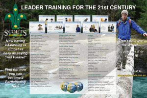 Scouts e-learning banner