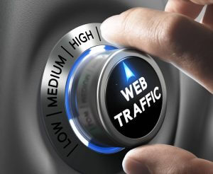 Web traffic button pointing high position