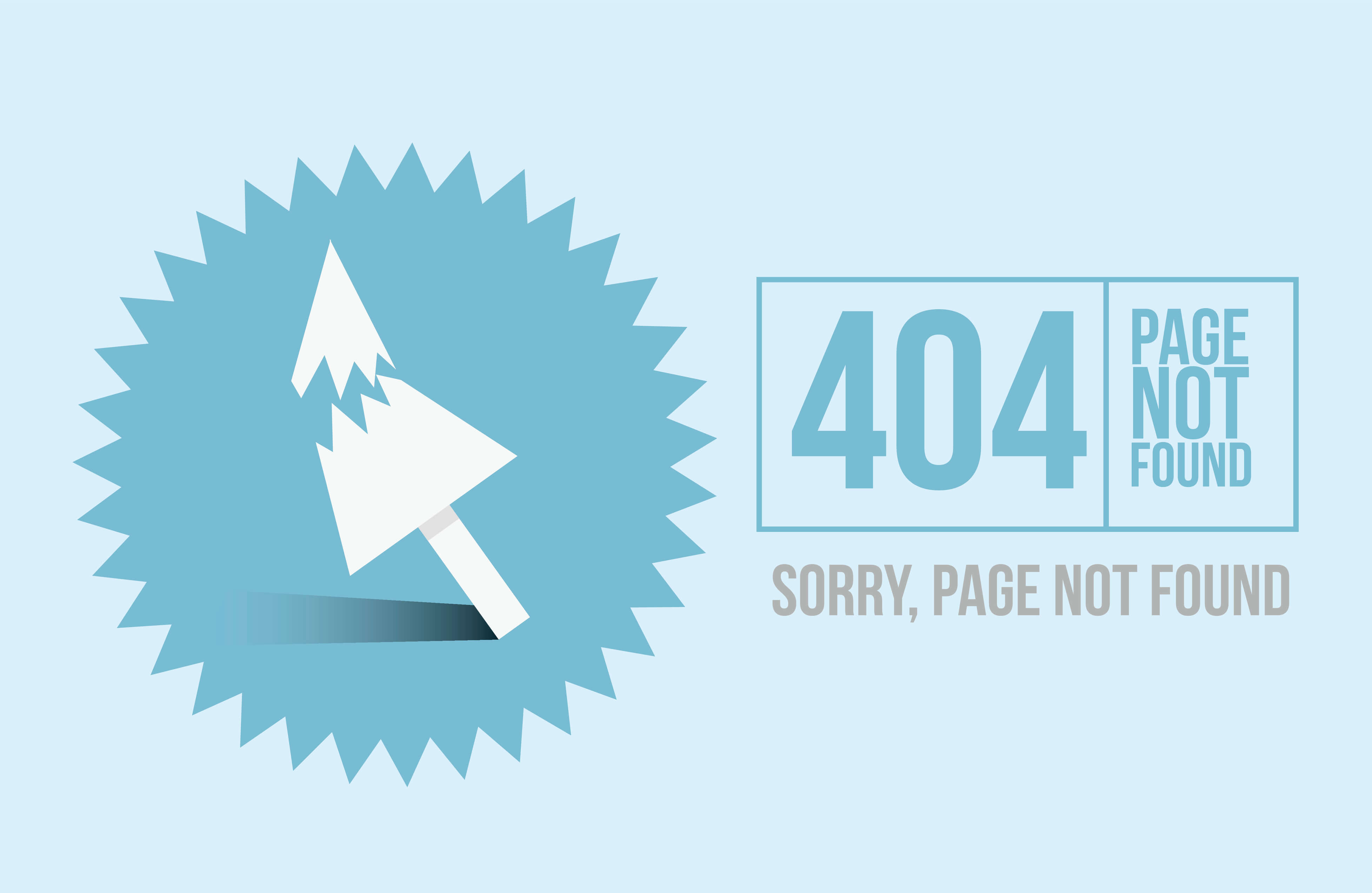 404 design, redirect page