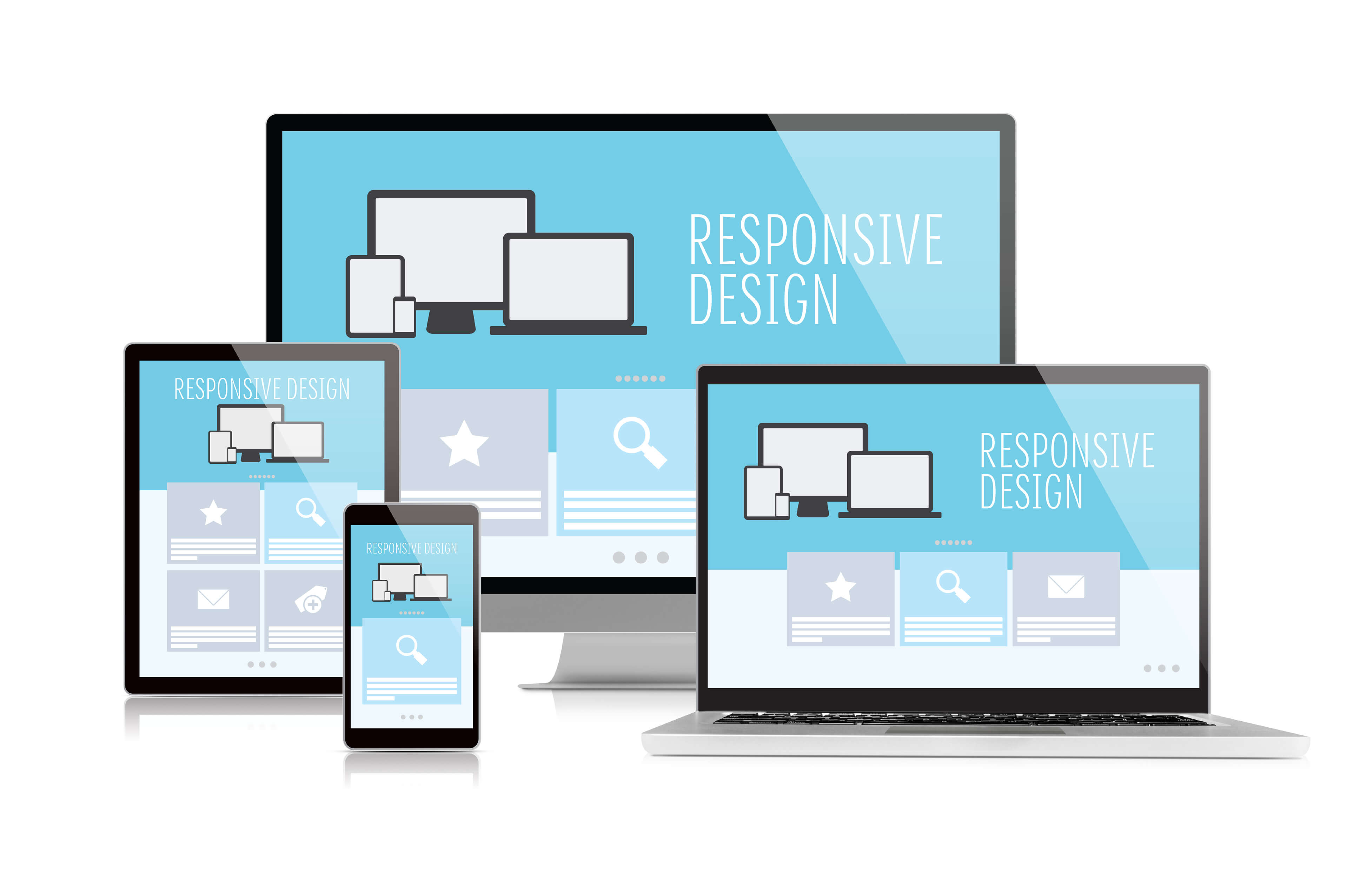 Responsive design on multiple devices